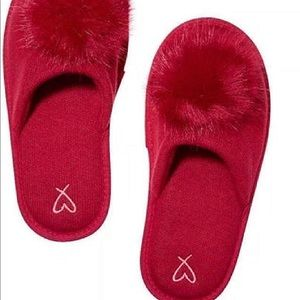 Victoria's Secret Pom Pom slippers